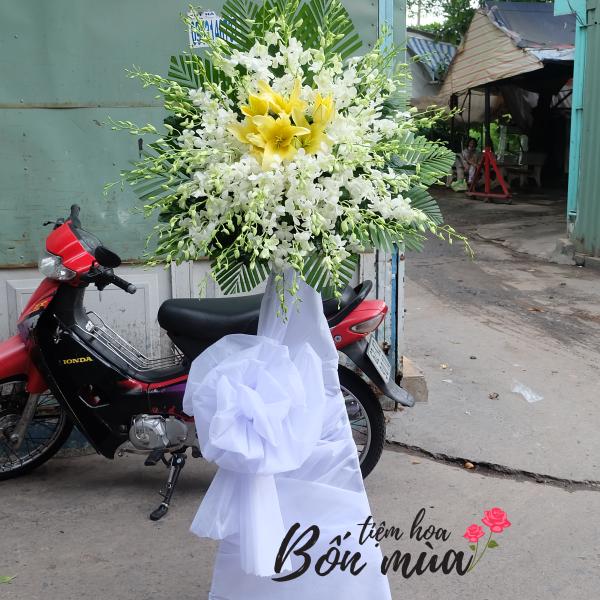 Kệ hoa tang một tầng màu trắng